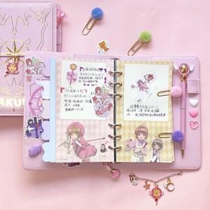 Image 3 - 3 arten Karte Captor Sakura Anime Action Figure Gedruckt Papier Handbuch Magie Notebook Schöne Mond Sterne Tagebuch Buch Schreibwaren Set