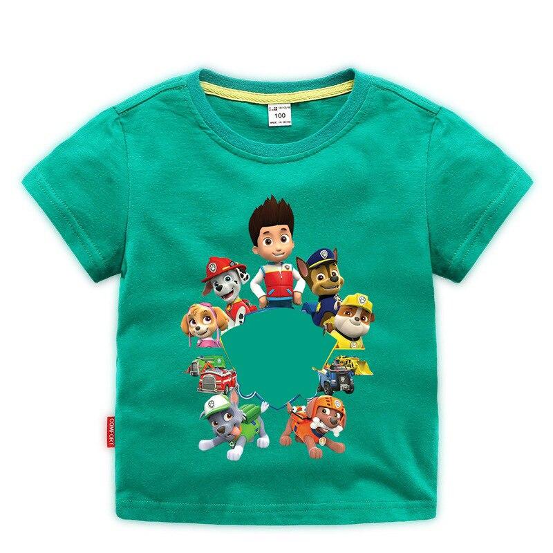 Paw Patrol Original Kids Girls Clothes Set T-shirt Short Sleeve Paw Patrol Original Toddler Clothes Toddler Boy Tops Tees Kids