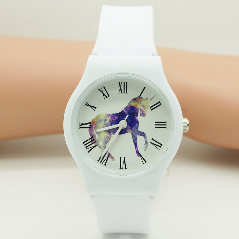 Unicorn Cute Cat Student Watch High-End Fashion Waterproof Student Watch Outdoor Sports Student Watch