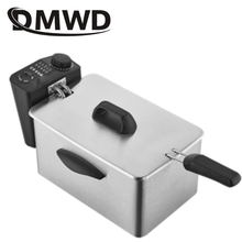 DMWD 2.5L электрическая фритюрница из нержавеющей стали для масляной печи, чипы, сковорода, гриль, картофель фри, курица, жареная рыба, машина, ЕС, США, вилка