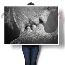 Canvas Painting Core Home Hotel Decoration Kiss Decorative wall pictures for living room