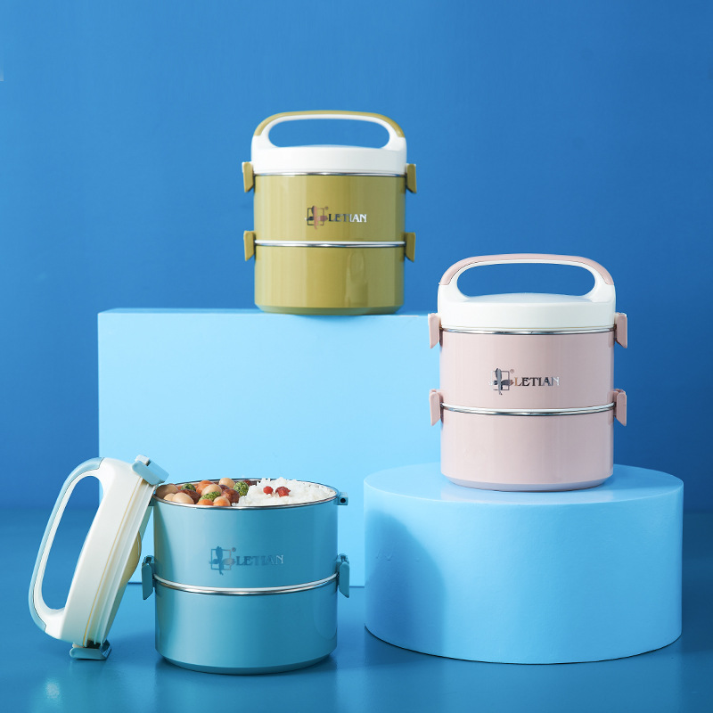 TUUTH Lunch-Box Food-Container Stainless-Steel Double-Layer Water-Injection-Insulation