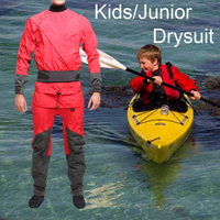 Kids Dry Suit Suppliers Junior Drysuit Rescue Manufacturers Youth Outwear Clothing for Kayaking Swimming Drifting SUP Adventure