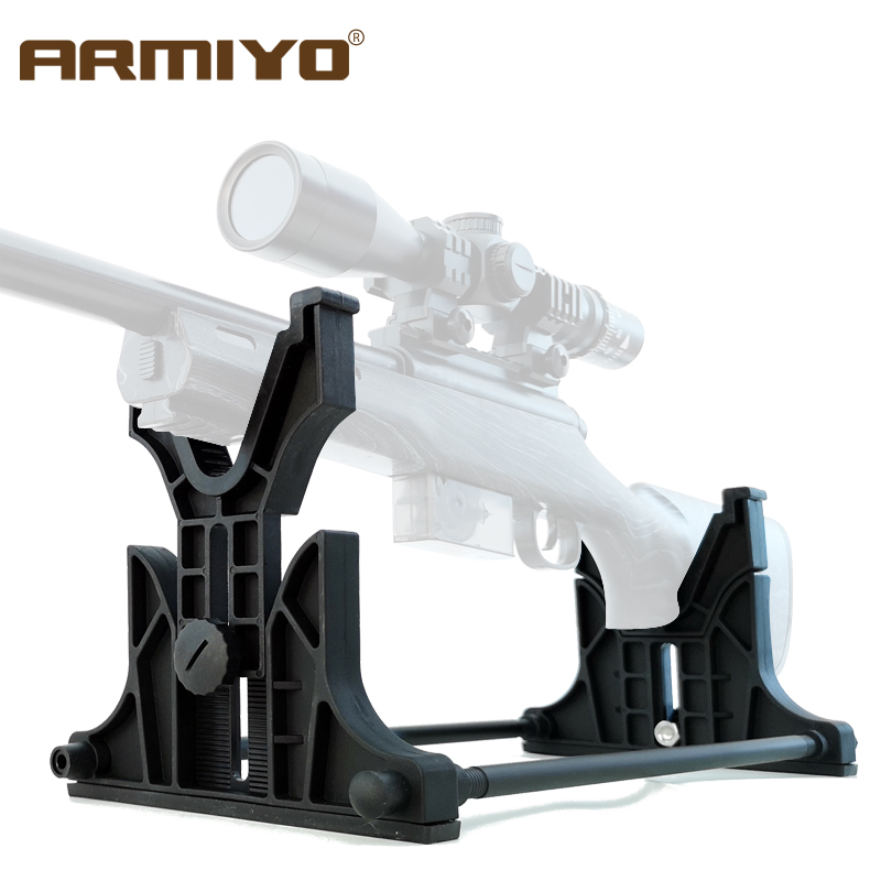 Armiyo Tactical Rifle Gun Rack Cleaning Cradle Holder Maintenance Display Bench Rest Wall Stand For Shooting Accessories