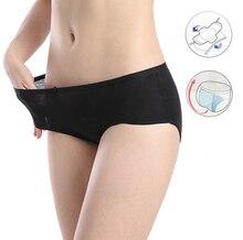 Feminino À Prova de Fugas Período Menstrual Calcinhas Fisiológicas Das Mulheres Roupa Interior Cuecas de Algodão Quente À Prova D Água Menstruelle Culotte