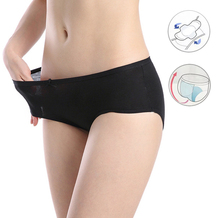 女性漏れ防止月経パンティー生理女性下着期間暖かい綿防水ブリーフキュロット Menstruelle