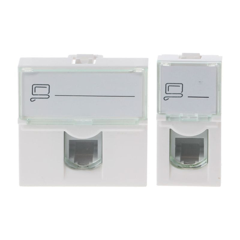 CAT6 Network Module Information Socket RJ45 8P8C Connector Adapter Keystone Jack Standard Wall Plate