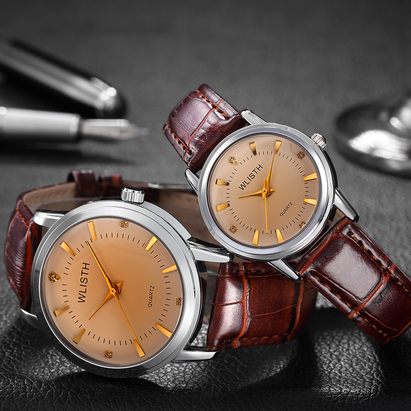 Lovers Watch Women Hot Style Waterproof Between The Gold Watch Fashion Wrist Watch Gold Shell On The Table Male Students Watches