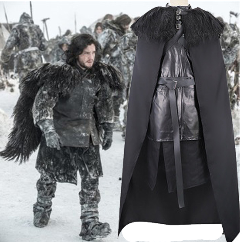high quality Song of Ice and Fire Game of Thrones jon snow cosplay costumes fancy Game of Thrones costume Jon snow cosplay image