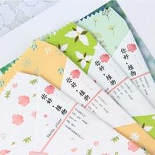 Envelope Kraft Postcard Novelty Stationery Gift for Item Kids Hello-Plants 5pcs/Pack