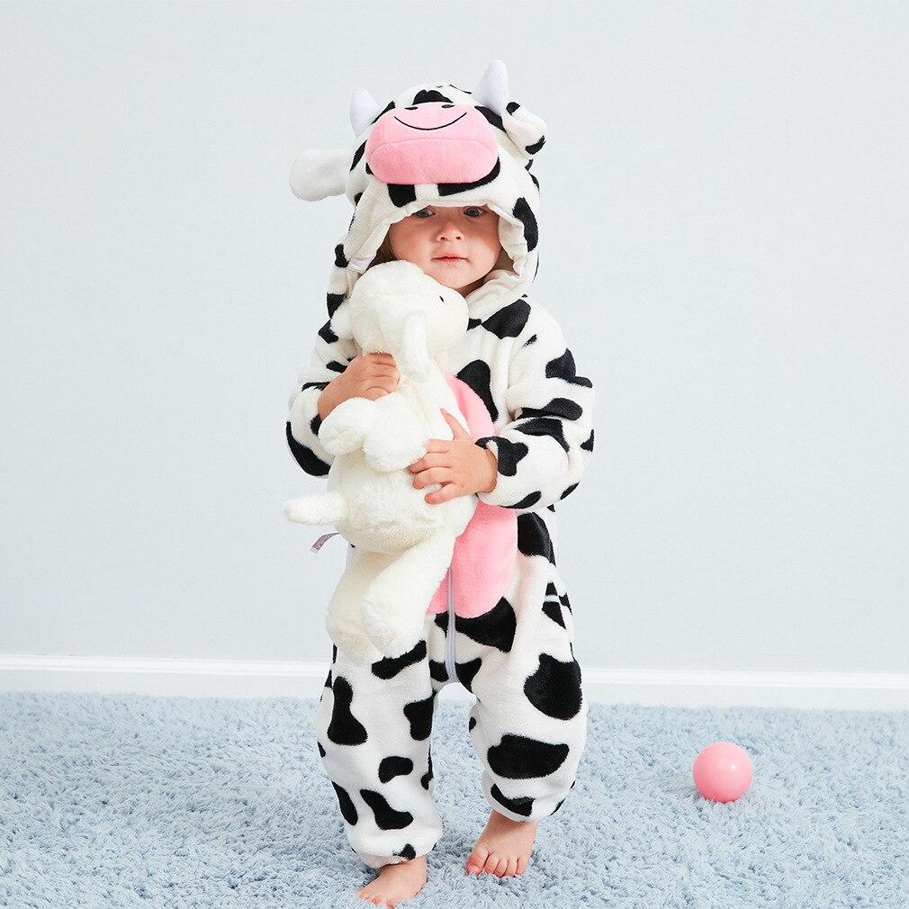 Cartoon Newborn Baby Winter Unisex Flannel stitch Pajama unicornio Sleepwear Kigurumi Boys toddler Animal Dinosaur Pajamas Set