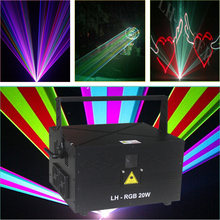 Free Shipping 20W DMX512 ILDA RGB DJ Bar Pub Rainbow Colors LED Stage Light Dancing(China)