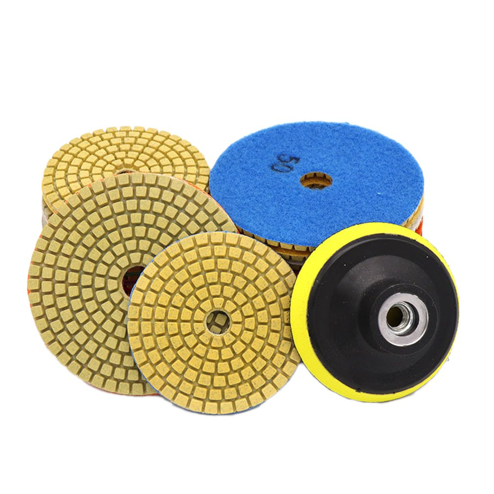 New 3 Inch Diamond Polishing Pads Durable Granite Stone Polishing Mat Portable Sanding Disk For Granite Marble