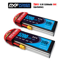DXF Lipo Battery 11.1V 5200MAH 50C 3S MAX100C T/XT60 LiPo RC Battery For Rc Helicopter Car Boat drone truck quadcopter Traxx(China)