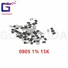 300PCS 0805 SMD Resistor 1% K ohm de 15 1/8W 153
