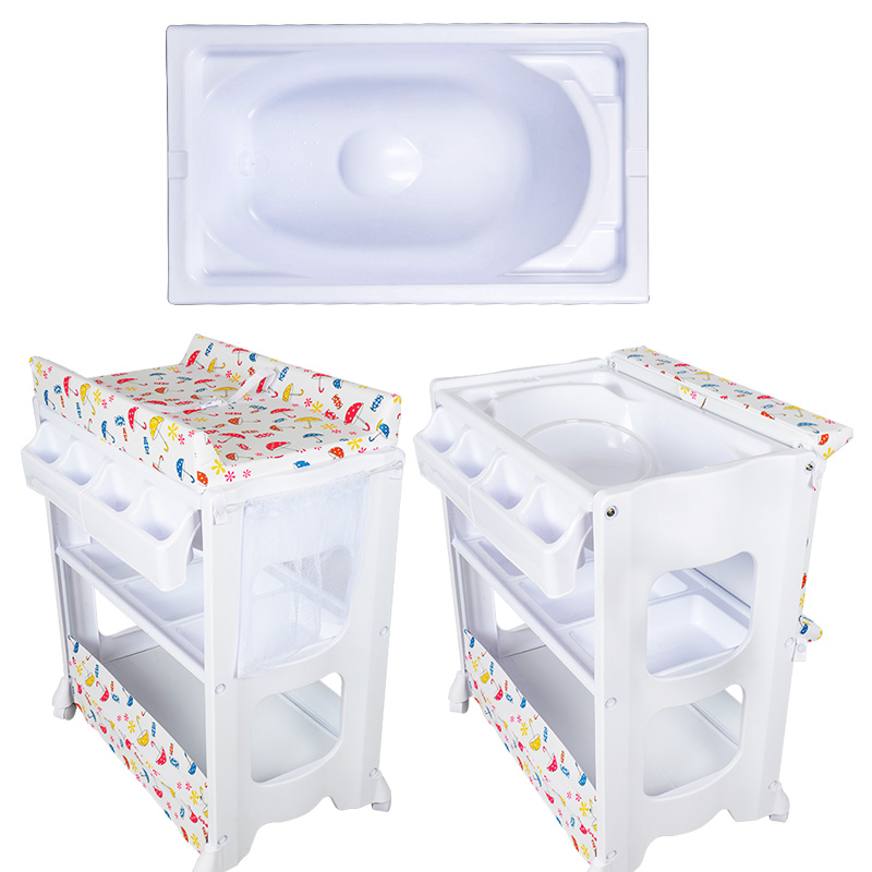 Multi-functional Baby Bed Bb Diaper Changing Table Nursing Table Baby Environment-friendly Touch Massage Bed With Bathtub