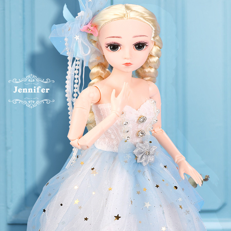 45cm Princess BJD Doll Fashion Formal Dress 18 Movable Jointed Dolls Toys with Uniform Dress Beauty BJD DIY Toy Gift for Girls image