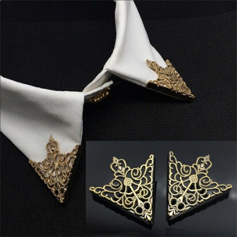 เสื้อแฟชั่นเข็มกลัด Pin มุมหัวเข็มขัด VINTAGE Crown รูปแบบ Hollow สำหรับผู้ชายผู้หญิงมุมเสื้อผ้าอุปกรณ์เ...