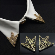 Shirt Collar Clothing-Accessories Crown Pin for Men Women Corner Brooch Vintage Hollow-Pattern