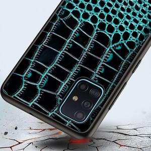 Image 4 - تمساح حقيقي حقيبة جلدية لسامسونج غالاكسي A51 A71 A10S A20S S20 S10 زائد A50 A70 A81 A91 A21 A01 أفضل حماية حالة