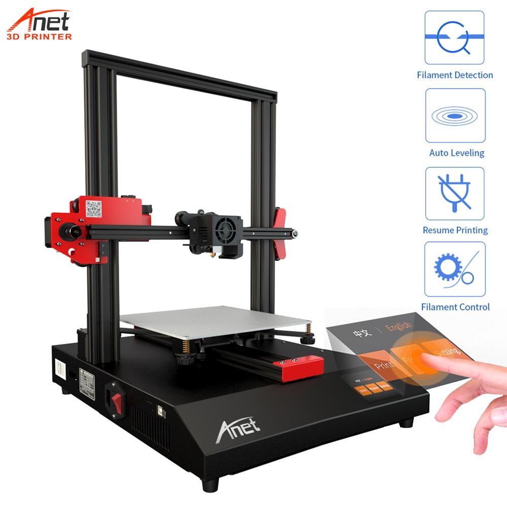 Neu Anet ET4 3D Drucker Mit Automatische Nivellierung aus Filament Erinnert Lebenslauf Druck Schnell Heizung Tabelle Für 3D DIY maker