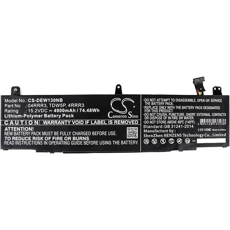 Cameron Sino 4900mAh Battery For DELL Alienware 13 R3 ALW13C,04RRR3 4RRR3 TDW5P