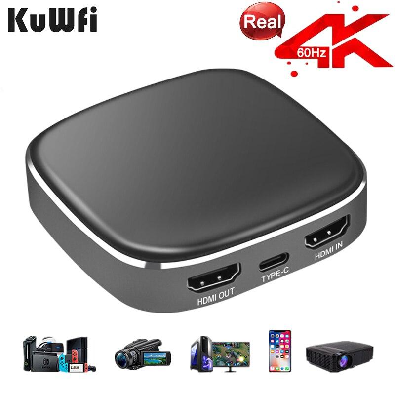 Ezcap 4K60fps устройство видеозахвата интерфейс типа C захват игры и видео, потоковое для Xbox, PS4, переключатель, DSLR, видеокамеры