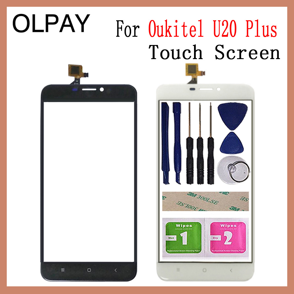 Mobile Phone 5.5'' Inch TouchScreen For Oukitel U20 Plus Touch Screen Glass Front Glass Digitizer Panel Lens Sensor Repair