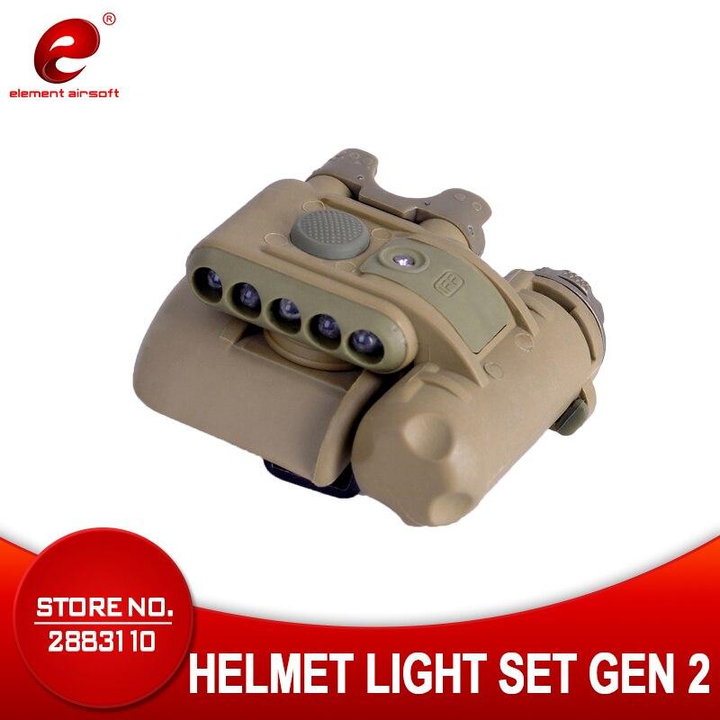 Tactique Casque lampe de Poche Chasse LED IFF Signal Lumineux CS Jeu