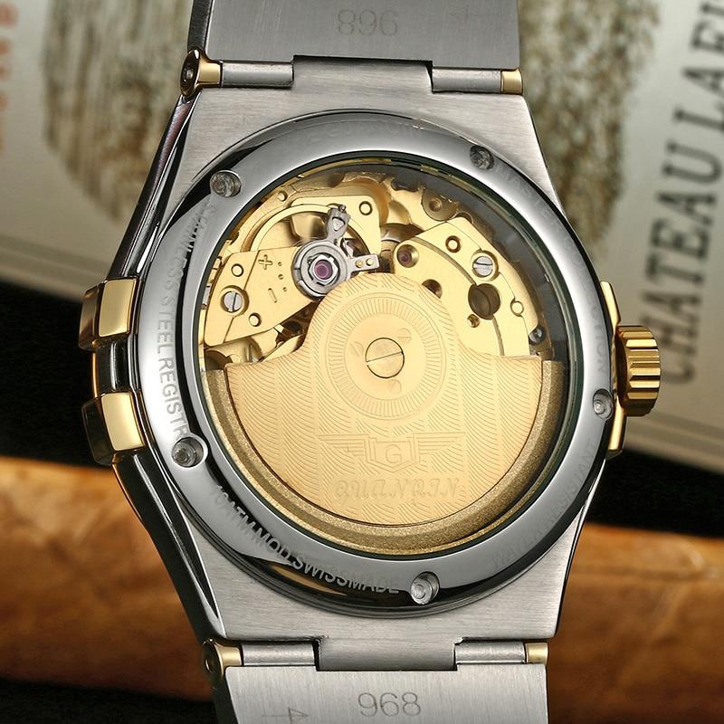 Guanqin safira automático relógio masculino marca de