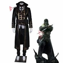 MMGG Новинка Dishonored Косплей Корво костюм кожаное пальто брюки Хэллоуин игровой набор аниме индивидуальный размер для мужчин