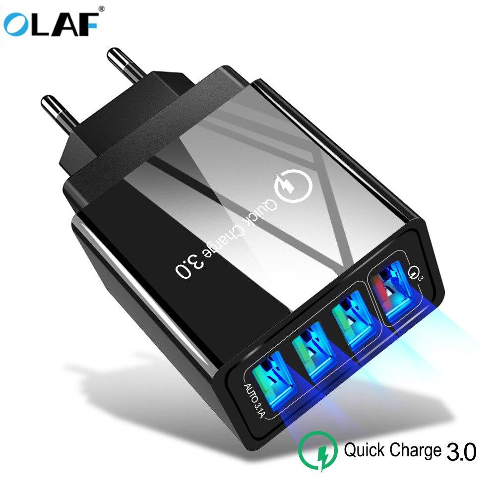 OLA chargeur USB Charge rapide 3.0 chargeur rapide QC3.0 QC Multi prise adaptateur mural chargeur de téléphone portable pour iPhone Samsung Xiao mi mi