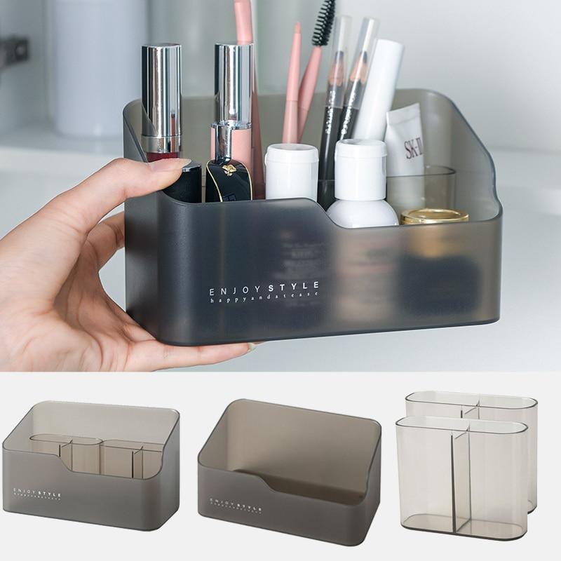 Maquiagem cosméticos organizador caixa de armazenamento multifuncional cuidados com a pele produtos de controle remoto cosméticos caixa de armazenamento de jóias