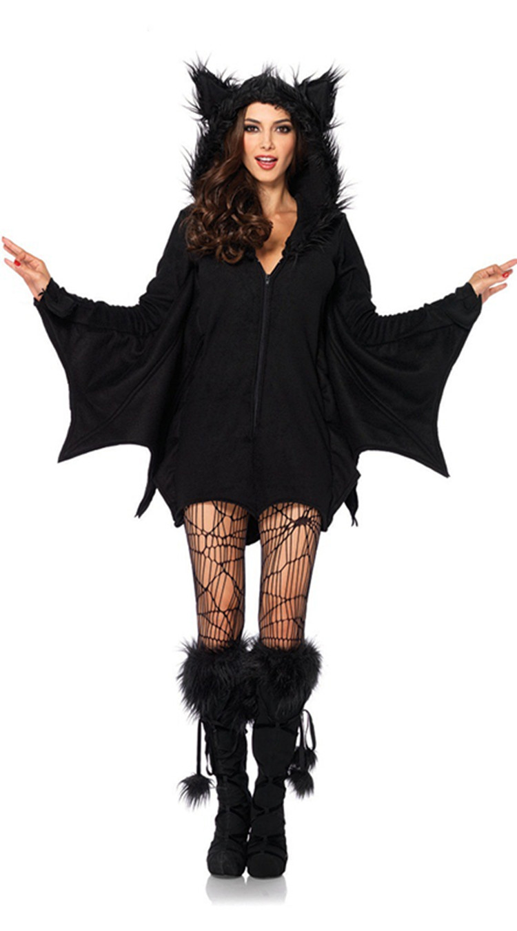 Halloween Adult Female Vampire Bat Pack Cosplay Bat Siamese Shorts Spider Stockings Cosplay Costume
