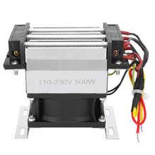 Calentador termostático de ventilador PTC, elemento aislado de cerámica, calentador de aire eléctrico, AC110V-230V, 500W