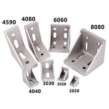 2020 2028 3030 3060 4080 6060 8080 20/30/40/45/60 Aluminum Profile Connector CNC Router Aluminum Corner Bracket 3040 4545 4590