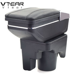 Vtear For VW Jetta Mk5 Golf Mk5 6 Armrest Interior Center Console Storage Box Arm Rest Car-styling Decoration Accessories Parts