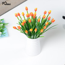 Flower Wedding-Holding Home-Decoration Plastic 7-Branches Tulips Lead-Wall Simulation-Road