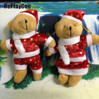 50/100 unids/lote Mini conjunta oso de peluche juguetes de peluche 12 cm osos de peluche lindos colgante muñecas regalos de fiesta de boda decoración de Navidad DWJ093