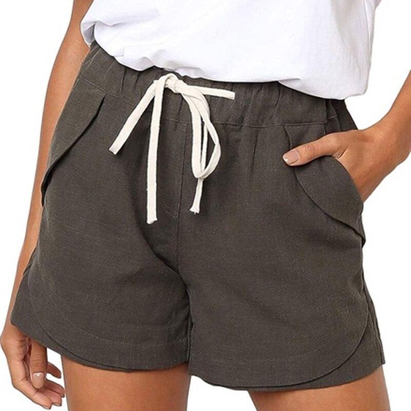 Summer Women Shorts 2020 New Summer High Waist Korean Shorts Lady Casual Plus Size Wide Leg Shorts For Femme