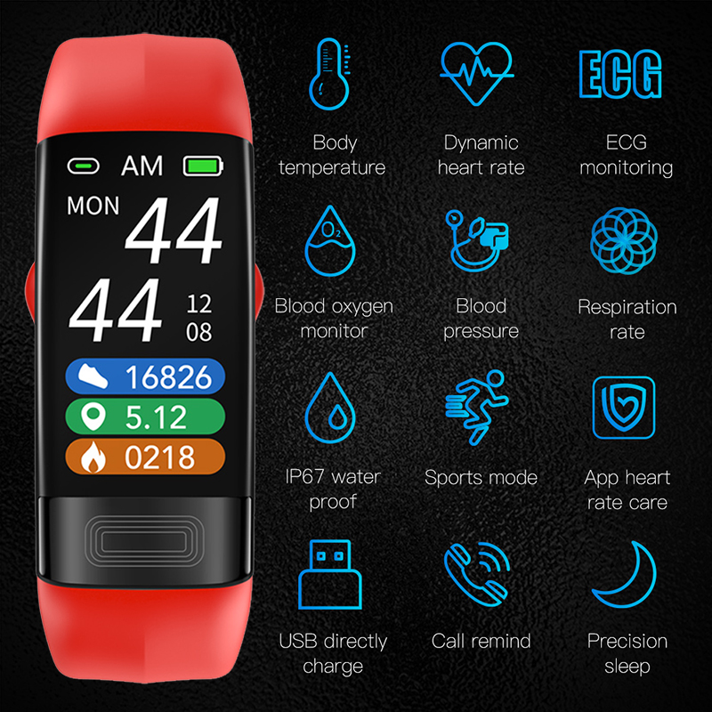 P11 Plus смарт Браслет спортивный ECG PPG браслет IP68 Водонепроницаемый пульсометр Монитор артериального давления HRV напоминание спортивный смарт браслет|Смарт-браслеты|   | АлиЭкспресс