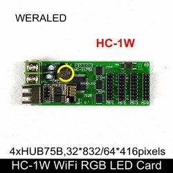 Najwyżej oceniane XINYI RGB karta kontrolna led HC 1W (wsparcie aplikacja na androida tylko) kolorowy karta kontrolna wyświetlacza led  wsparcie 1/16 skanowania w Moduły LED od Lampy i oświetlenie na