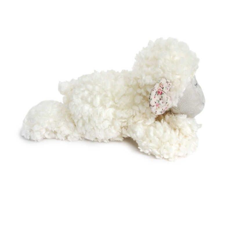 Luksusowe 20cm białe pluszowe owieczki wysokiej jakości miękkie puszyste jagnięce lalki prezent wypchane zwierzęta słodkie klasyczne przytulić zabawki dla dzieci
