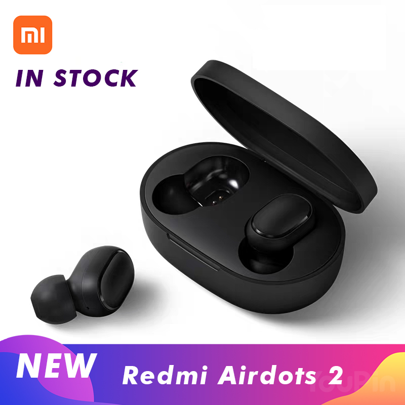 Xiaomi Redmi Airdots 2 Black Bluetooth Earphones Youth <font><b>Mi</b></font> True Wireless Headphones Bluetooth 5.0 <font><b>TWS</b></font> Air Dots Headset image