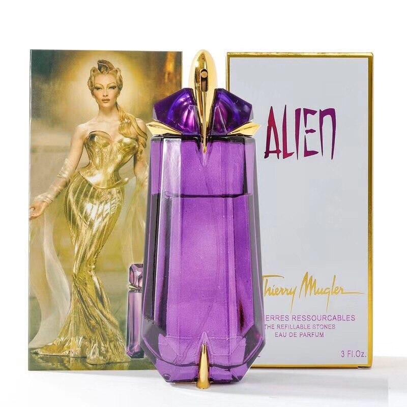 High Quality 90ML Woman Perfume  Eau De Parfum  Longlasting Woman Spray Purple Perfume Bottles
