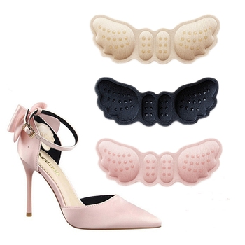 цена на High Heel Insoles Butterfly Adjust Size Heel Liner Grips Protector Sticker Heel Pad Foot Care Anti Keep Abreast Heel Pads 1Pair