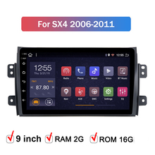 Android 9.1 car multimedia player per Suzuki SX4 2006 2007 2008 2009 2010 2011 2012 auto sistema di navigazione gps radio 2 din 9in