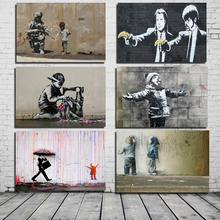 Banksy Classic Poster HD Canvas Painting Print Living Room Home Decoration Modern Wall Art Oil Painting Posters Pictures Artwork