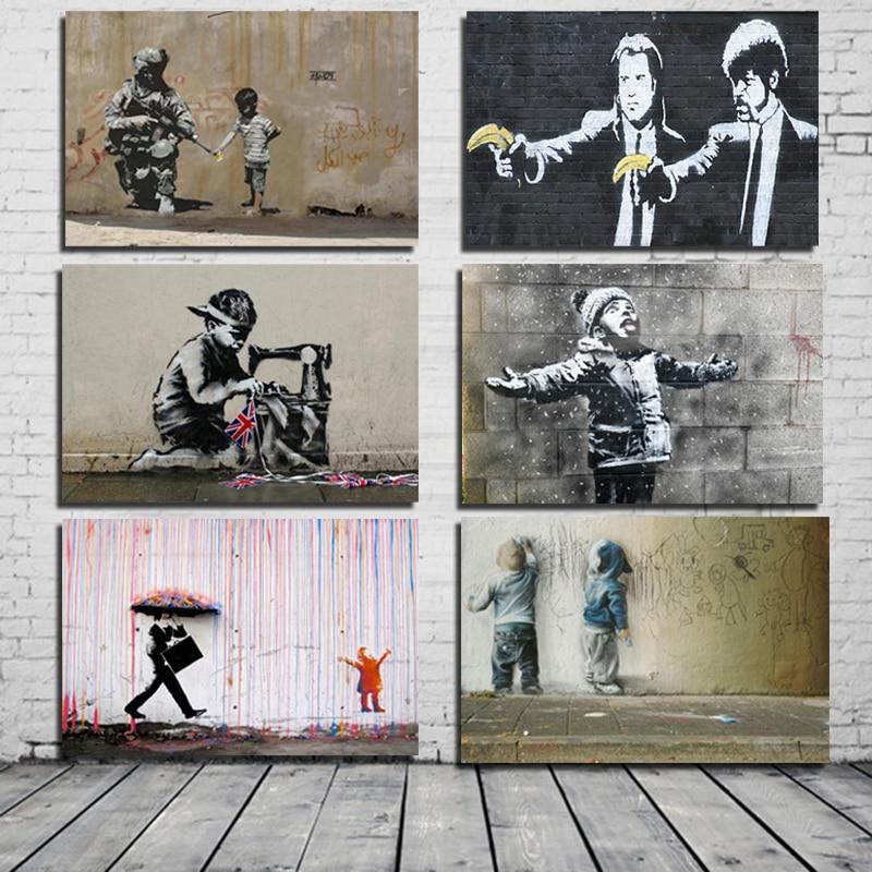 Banksy Klassische Poster Leinwand Malerei Drucken Wohnzimmer Hause Dekoration Moderne Wand Kunst Ölgemälde Poster Bilder Kunstwerk