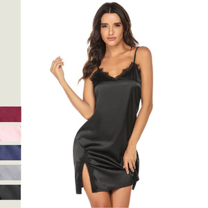 Image 2 - Sleepwear women sexy Plus Size S XXL night dress  Casual Lounge nightgowns lingerie dress Women Clothes Summer 2020